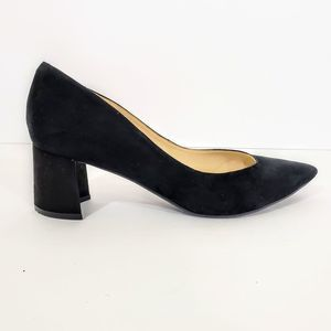 Marc Fisher Suede Black Pointy Toe Heels Size 10